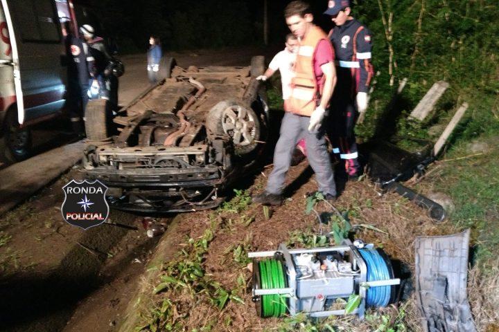 Motorista morre ao capotar veículo na SC-283
