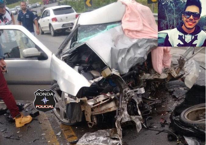 Jovem do Oeste morre em grave acidente no Vale do Itajai