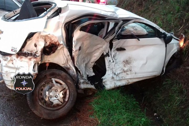 Motorista de Chapecó sofre graves ferimentos em colisão frontal na 282