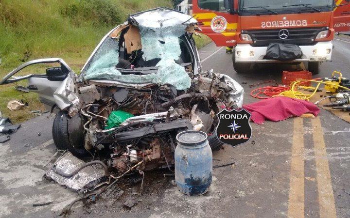 Jovem morre e outros dois ficam gravemente acidente neste domingo de páscoa