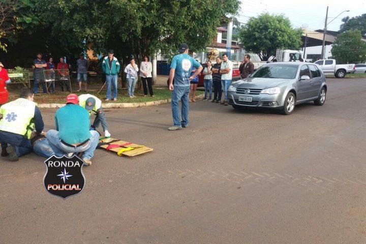 Atropelamento de pedestre é registrada no centro
