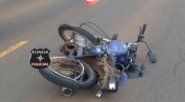 Idoso morre em grave acidente de moto no feriado do trabalhador