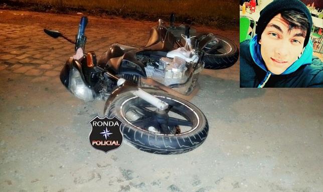 Jovem morre em grave acidente de moto na 282