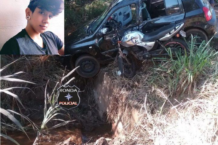 Jovem morre em grave acidente de moto no interior