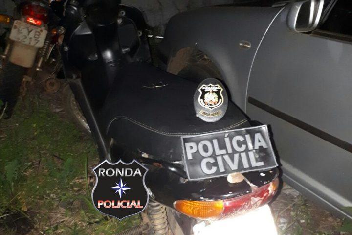 Jovem é preso em flagrante de posse de moto furtada