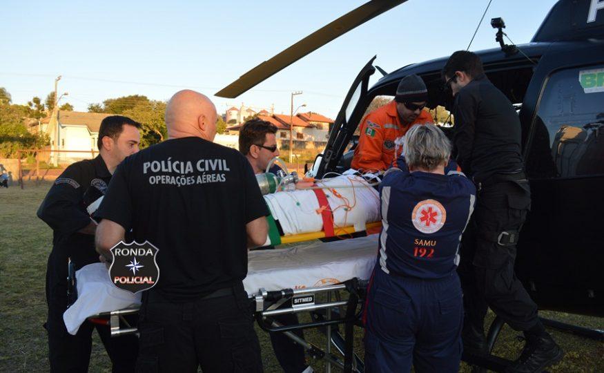 Jovem levado pelo Saer à Chapecó retorna para hospital de Xanxerê