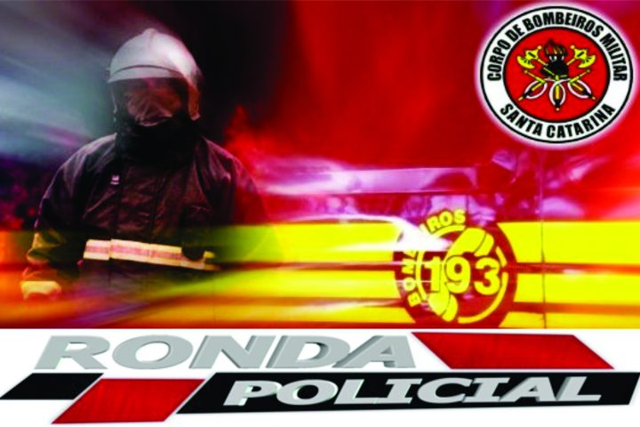 Bombeiros de Xaxim atendem acidente com ônibus durante a noite