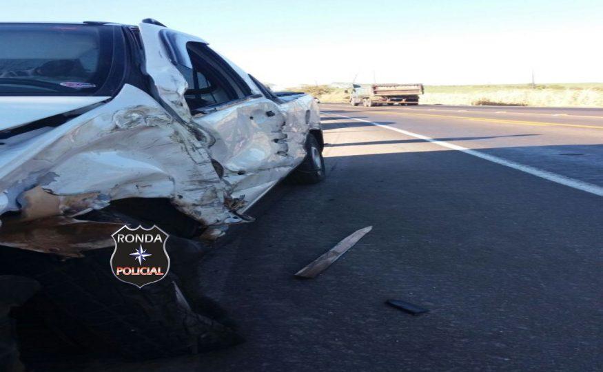 Motorista fica ferido em engavetamento na 282 em Xanxerê