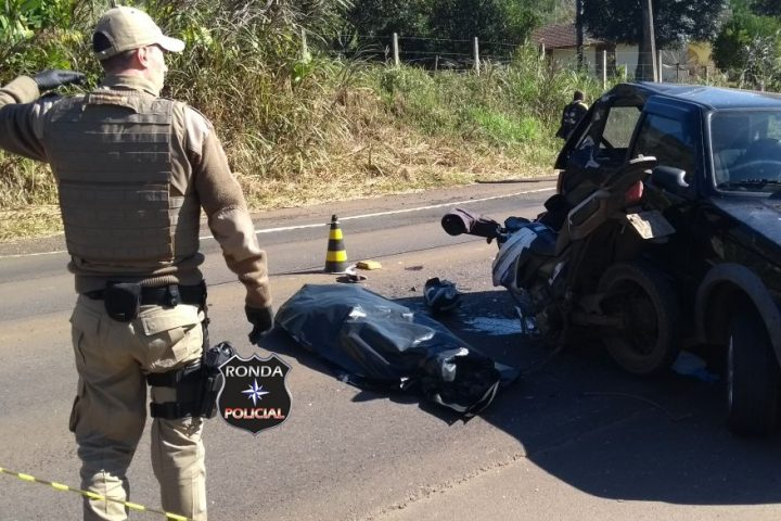 Motociclista xanxerense morre em grave acidente na SC-155