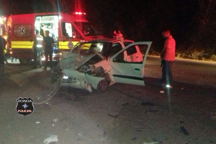 Três pessoas ficam feridas em grave acidente na SC-155