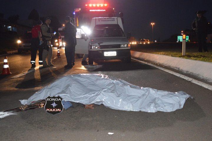 Idoso morre atropelado na BR-282 em Xanxerê