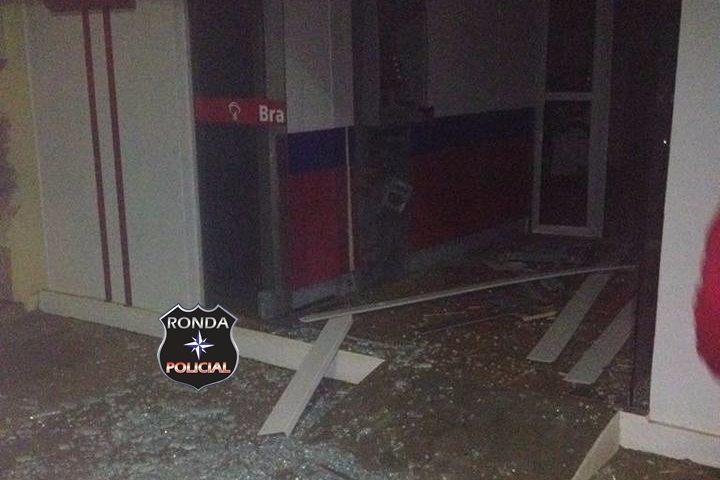 Casal é preso em flagrante ao tentar explodir agência bancária durante a noite