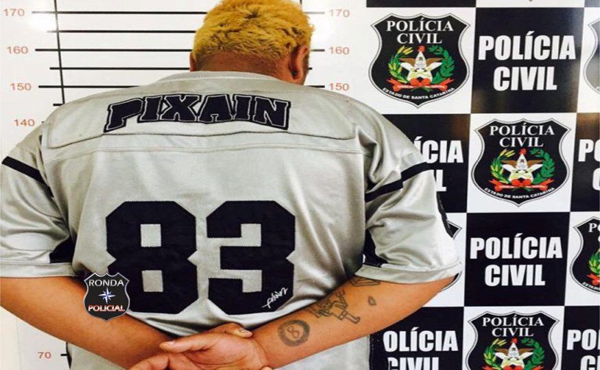 Traficante é preso pela Polícia Civil no final da tarde