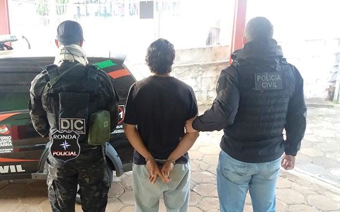 Assaltante procurado pela justiça é preso pela DIC e encaminhado ao presídio de Xanxerê
