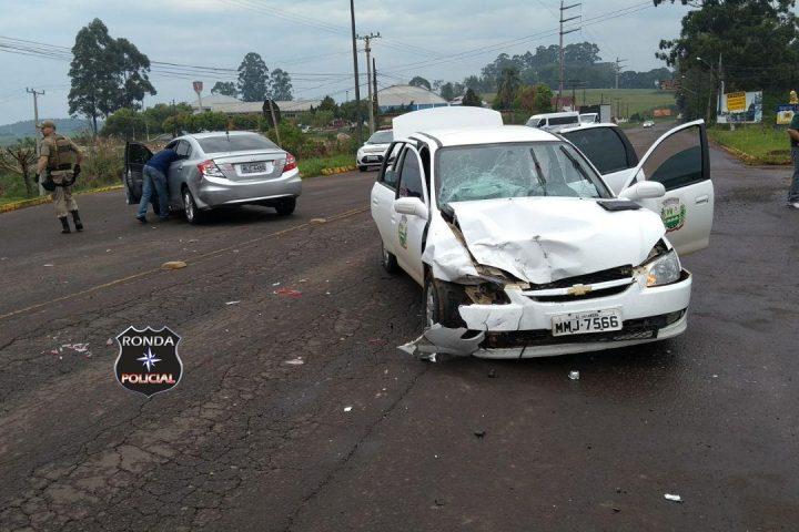 Idoso morre após grave acidente com veículo da saúde na SC-283