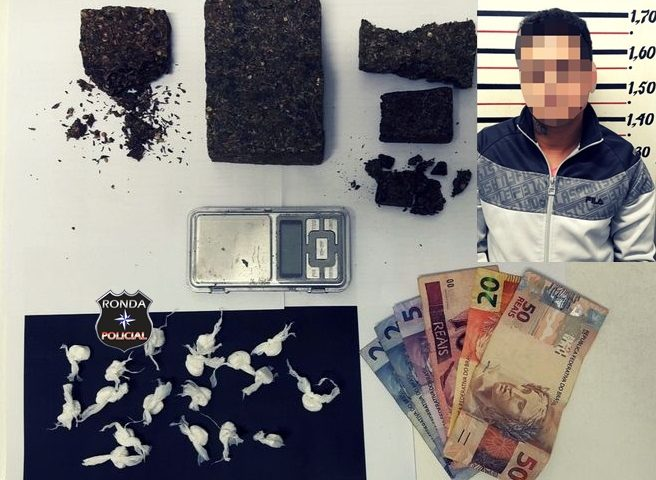 DIC prende jovem por tráfico e apreende drogas e dinheiro