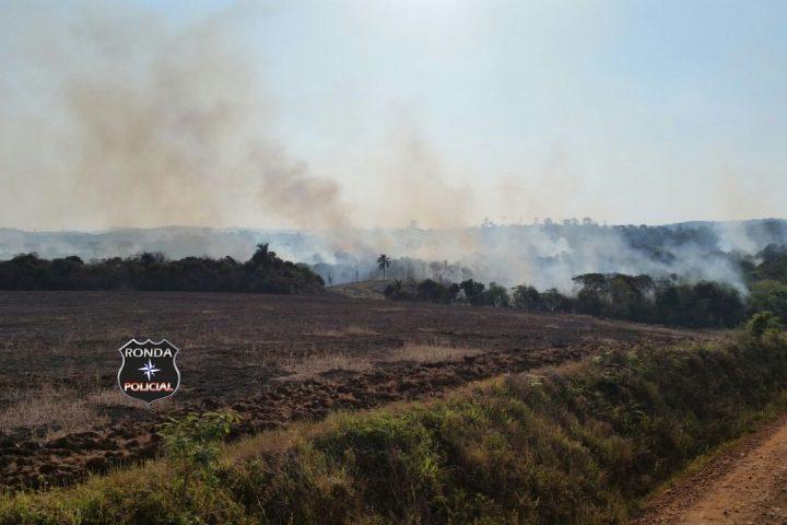 Incêndio florestal de grandes proporções é registrado em reserva indígena