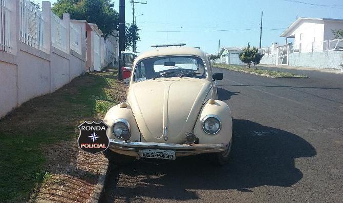 PM recupera em Faxinal veículo furtado em Xanxerê