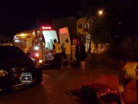 Violenta colisão entre carro e moto é registrada no Colatto