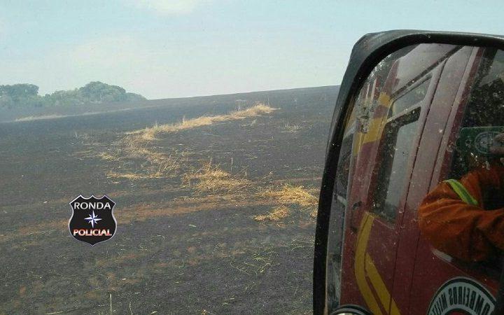 Incêndio atinge 90 hectares de lavoura em Faxinal dos Guedes