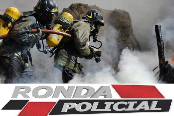 Bombeiros combatem incêndio em aviário na madrugada