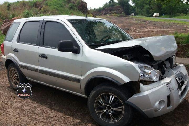 Camionete de Xanxerê se envolve em acidente na 282 em Cordilheira Alta