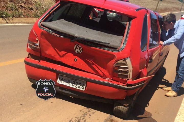 Carro de Xanxerê se envolve em acidente no interior de Vargeão
