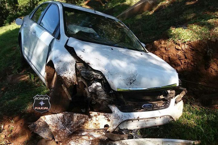 Jovem fica ferida em acidente na BR-163