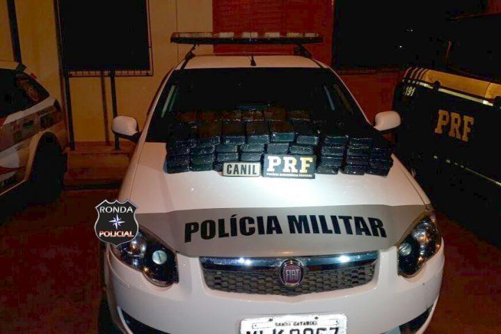 Ação conjunta das forças policiais apreende mais de 70 kg de cocaína na BR-282
