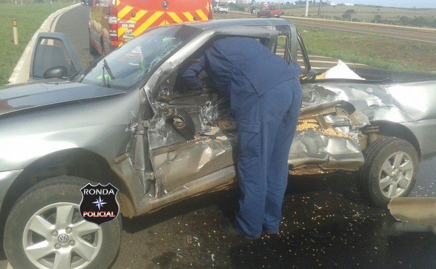 Motorista fica preso às ferragens em grave acidente na 282 em Xanxerê