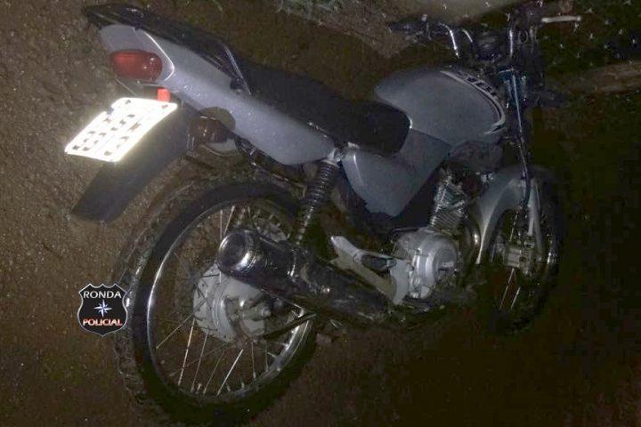 PM recupera na madrugada moto furtada durante a noite em Xaxim