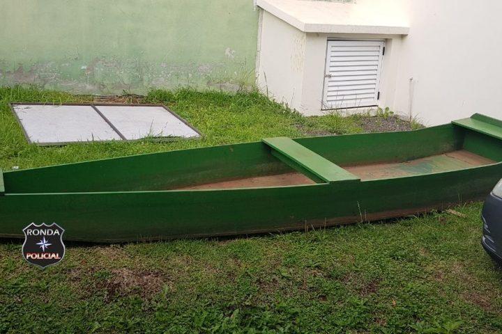 Polícia Civil recupera embarcação furtada no Rio Irani