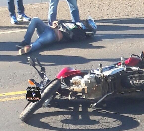 Jovem fica ferido ao sofrer queda de moto na 282 em Xaxim