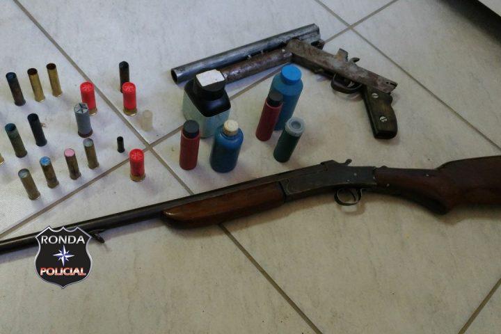 Ação conjunta realizada entre PM e PC apreende armas no interior de Bom Jesus