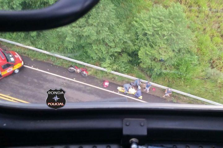 Motociclista morre após sofrer queda de moto no final da tarde