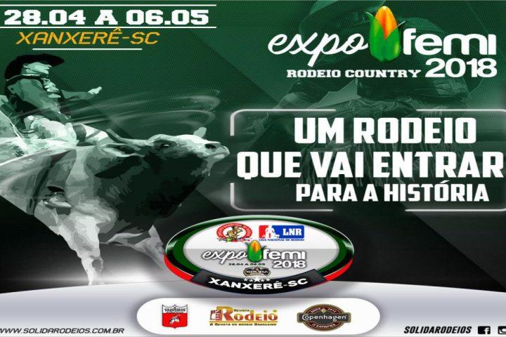 Sólida Rodeios apresentará montarias Coutry com peões de todo o Brasil na ExpoFemi 2018