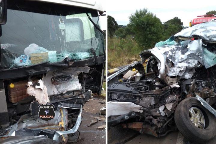 Identificadas vítimas de grave acidente na BR-282 durante a manhã