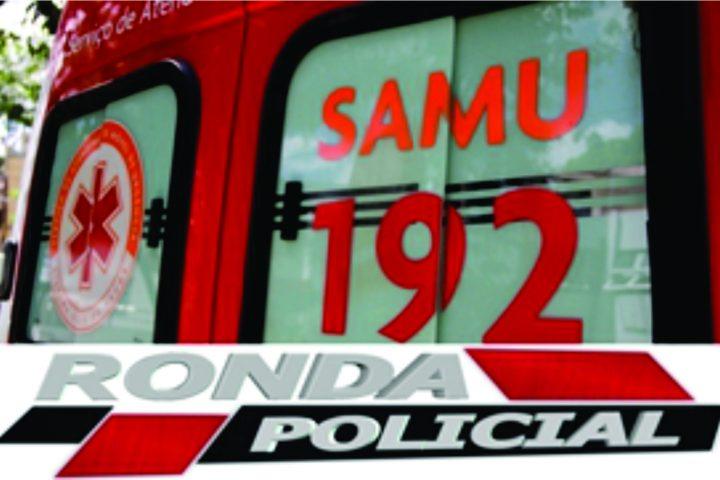 Duas pessoas ficam feridas após veículo colidir em poste de energia elétrica no Oeste
