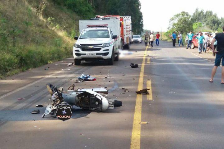 Motociclista morre em grave acidente no início da manhã desta segunda-feira