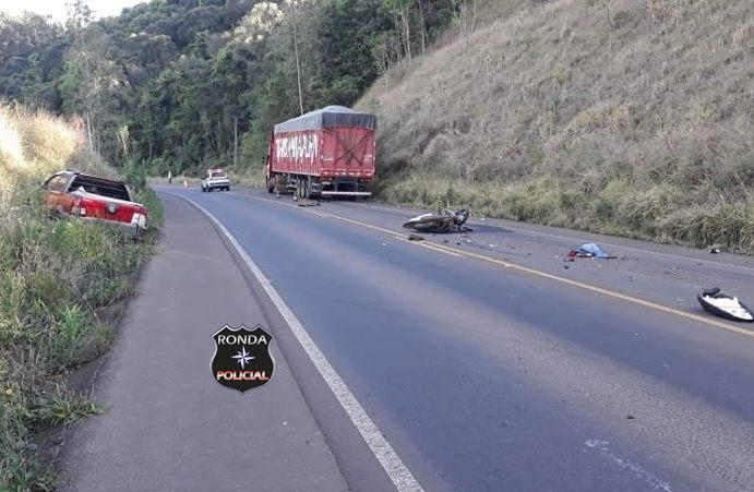 Identificado motociclista que morreu em grave acidente na SC-160