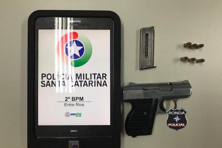 Idoso é preso de posse de pistola na cidade de Entre Rios