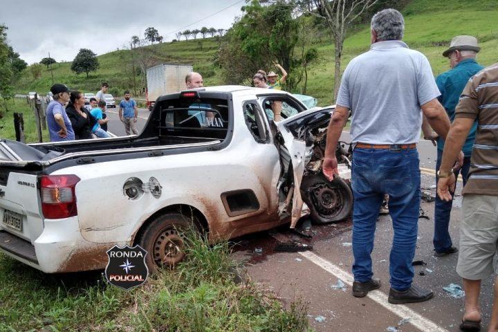 Grave acidente deixa trânsito lento na SC-157 no início da tarde