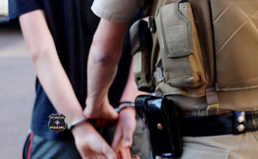 Jovem acaba preso após agredir esposa em Ponte Serrada