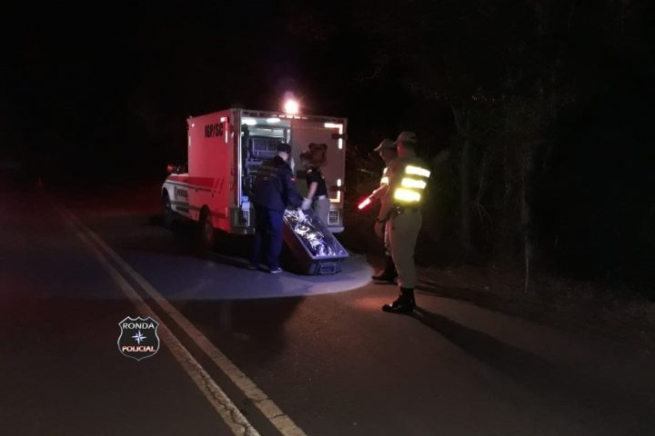Idoso morre após ser atropelado a margem de rodovia no início da noite