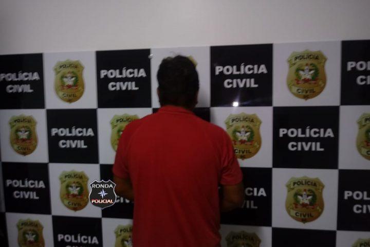 Polícia Civil prende em Ipuaçu homem condenado por tentativa de homicídio