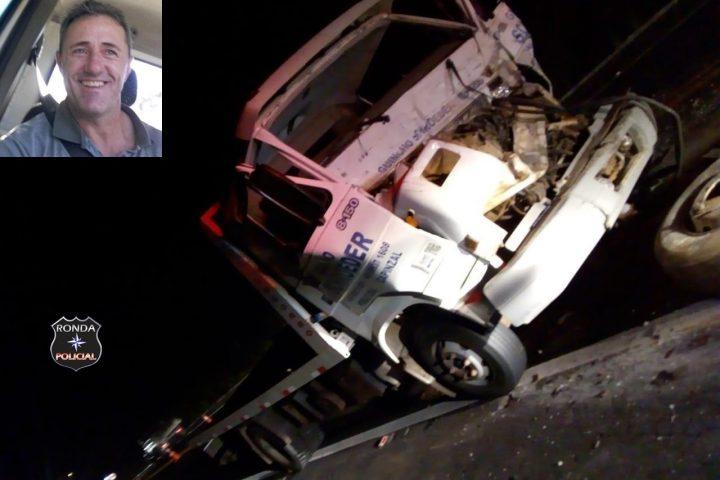 Caminhoneiro morre no hospital após grave acidente durante a noite