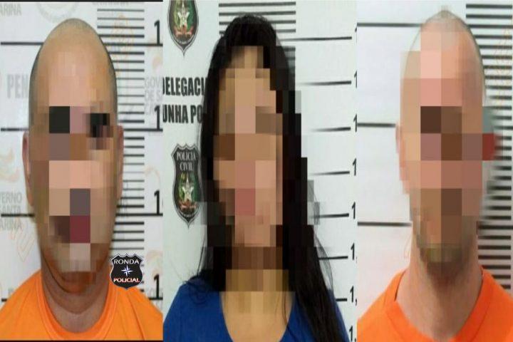 Trio de traficantes é preso pela Polícia Civil