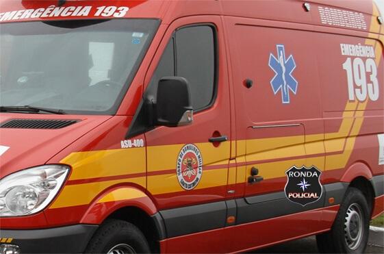 Jovem motociclista fica ferido em acidente em Xaxim