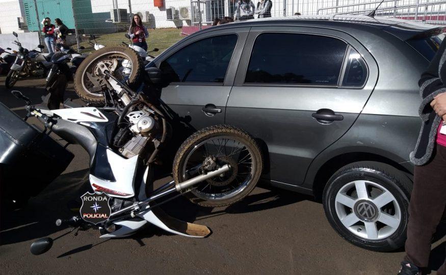 Motociclista fica ferido em acidente no Bairro Tonial
