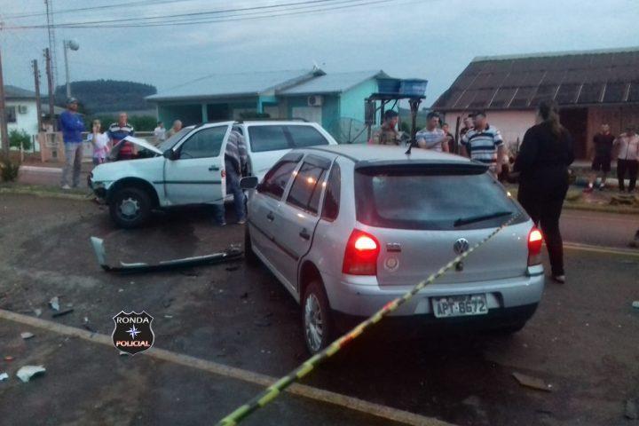 Duas pessoas são encaminhadas ao hospital de Xanxerê após grave acidente em Ipuaçu